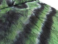 ☻ Stoffe Hochw. Ital. Batik Leinen Jacquard Crash grün schwarz weiß m. Rapport☻