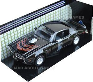 Pontiac-Firebird-1-24-Escala-Modelo-automovil-de-fundicion-die-cast-Miniatura-Negro