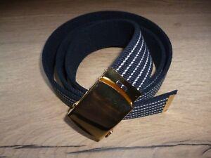 Elasticated Belt Blue 35mm Uniform Adult Boys Girls Mens Womens xl xxxl B1