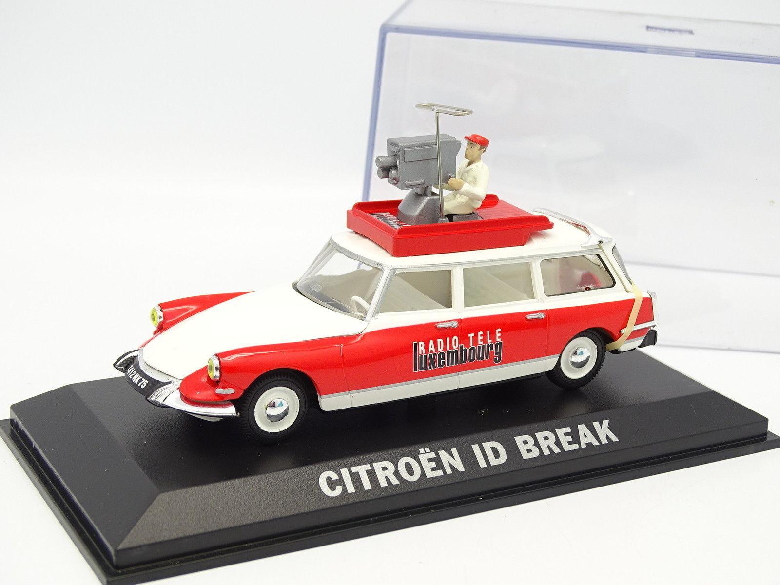 Norev 1 43 - Citroen DS IDEA Break RTL con Operador de cámara Tour Francia 1963