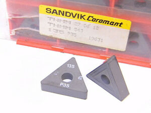 NEW-SURPLUS-10PCS-SANDVIK-TNMM-543-GRADE-135-CARBIDE-INSERTS