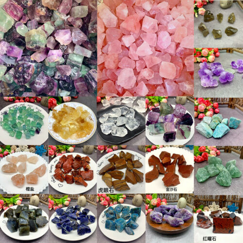 100g Colorful Natural Quartz Crystal Assorted Bulk Tumbled Gem Stone Healing HOT
