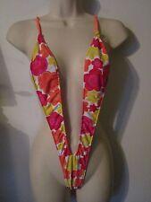 Red, Orange & yellow Print Ladies Sling Shot String Monokini