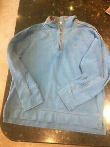 Mens-Fat-Face-Vintage-Sweatshirt-with-1-4-zip-Large-Blue