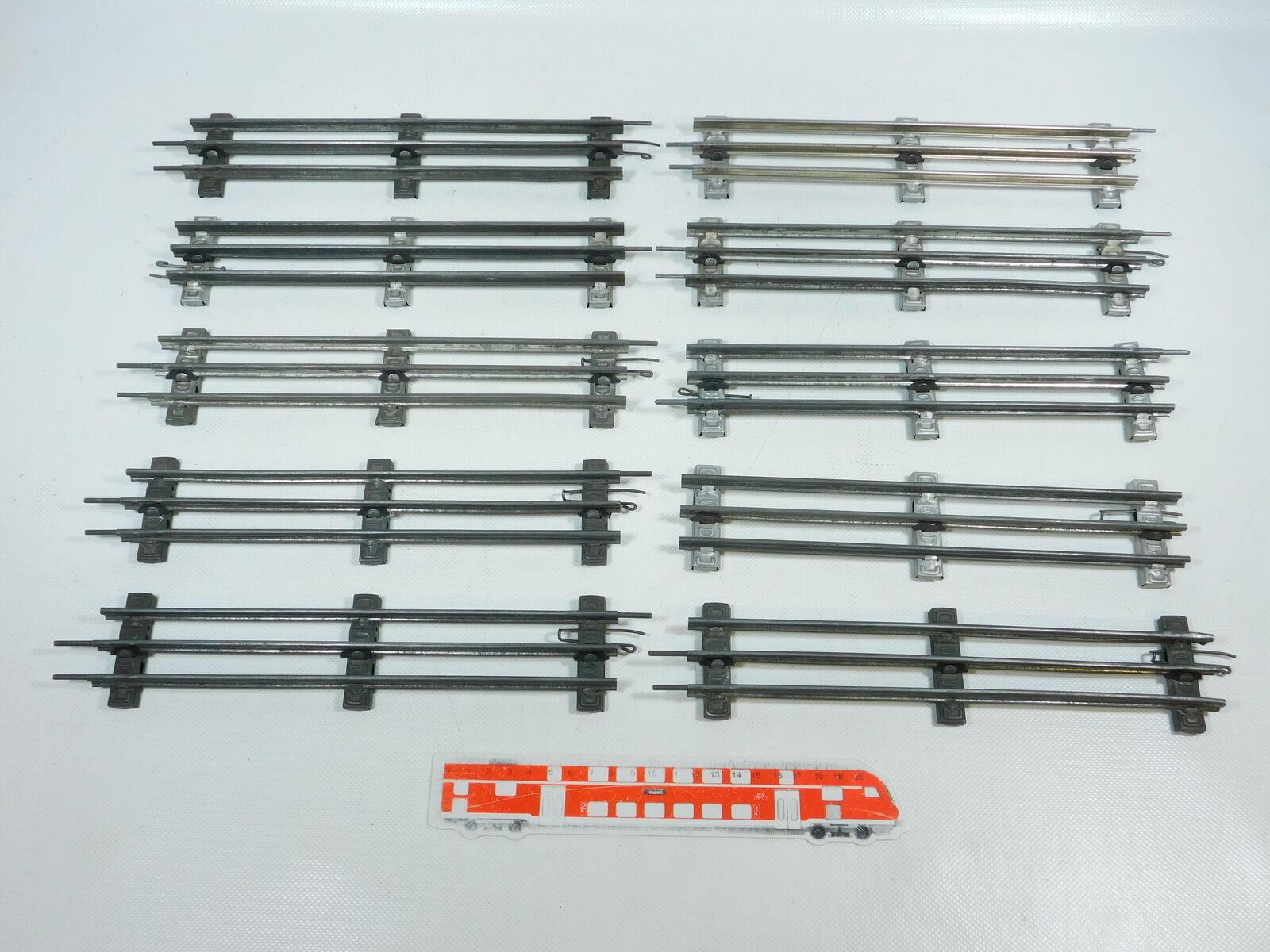BW84-2x Märklin Spur 0 Gleis gerade (26 cm) für elektrischen Betrieb