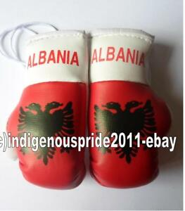 Albania Flag/Albania mini boxing gloves 4 your car mirror.Hurry.A<wbr/>lmost sold out