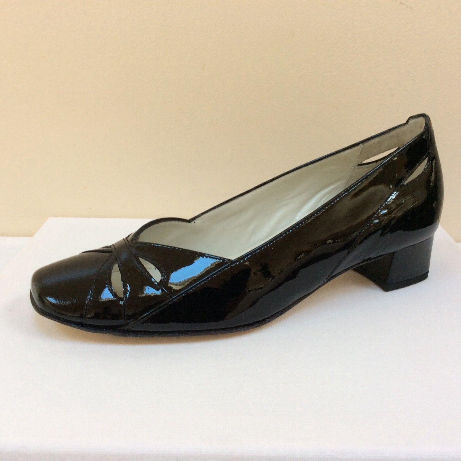 Hogl schwarz patent Leder court schuhe, UK 7,   BNWB