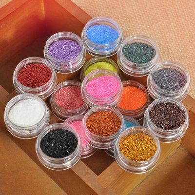 16 Mixed Color Glitter Powder Makeup Eyeshadow Eye Shadow Cosmetics Salon Set