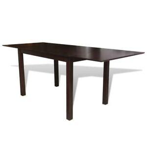 Bois-Massif-Marron-Extension-Table-de-salle-a-manger-195-cm-Cuisine-Salon-mobilier