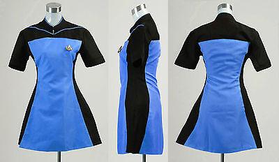 Hot Star Trek TNG Skant Dress Uniform Costume Cosplay Blue Yellow Red
