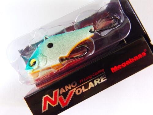 NANO VOLARE 40mm 1.2oz VIBRATION CHIP GLX BLUE BACK SHAD Megabass