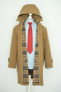 Mens-Aunthentic-Burberry-London-Wool-Jacket-Nova-Check-Duffle-Coat-Size-52