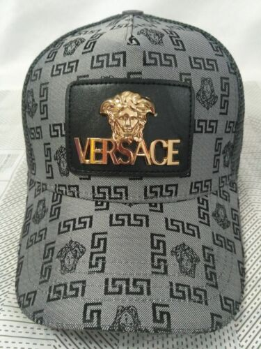 NEW Versace Unisex Baseball Hat Outdoor Sport Cap Gray