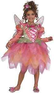 Rubies-Deluxe-Pink-Pixie-Girl-039-s-Costume-w-Tutu-Dress-Headpiece-Wings-881759