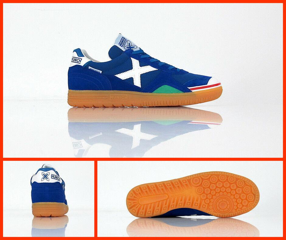 MUNICH zapatos calcetto indoor GRESCA 03 3000605 col.AZZURRO BIANCO luglio 2018