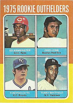 Verzamelkaarten, ruilkaarten 1975 Topps Minis #622 Ed Armbrister Fred Lynn Tom Poquette Terry Whitfield RC Verzamelkaarten: sport