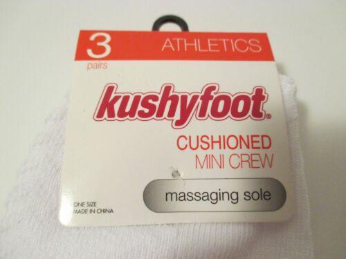 Kushyfoot Mini ~ Crew 10 Socks Sole Massaging 9 Cut Paren Low 628159140820 White 6 schoenmaat EAq1U5w