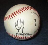 signed original art sketch by MATT WAGNER GRENDEL on MLB BASEBALL leather COA