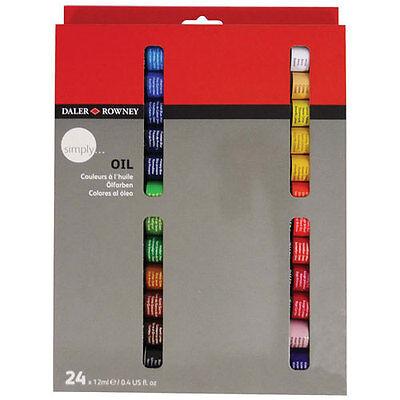 Daler Rowney Simply Oil Paint Set - 24 x 12ml Tubes
