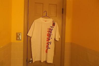 Unisex Soffe NWT Virginia Tech t-shirt. Size l. white/with orange, maroon writti