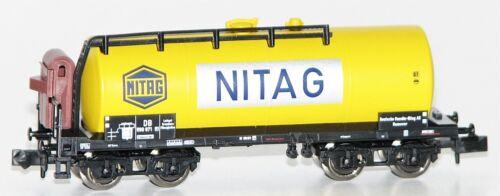 """Trix N 11130-5 Kesselwagen mit Bremserhaus /""""NITAG/"""" DB AG NEU OVP Minitrix"""