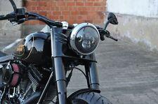 "LED SCHEINWERFER für Harley Davidson FAT BOY LOW  ""E"" DAYMAKER BLACK"
