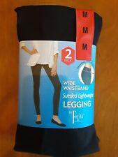 Felina Legging Velvety Soft LightWeight Black 2 Pack Sz S M L XL