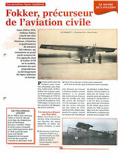 Fokker F.VII Dutch Atlantic Aircraft Corporation KLM/ Le Bourget FRANCE FICHE