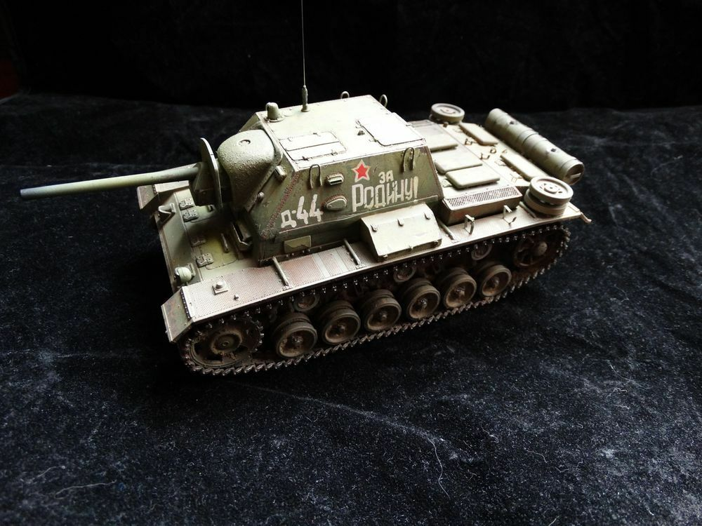 Built & Painted 1 35 - Russian Selfpropelled Gun SU-76i (on StuG III)