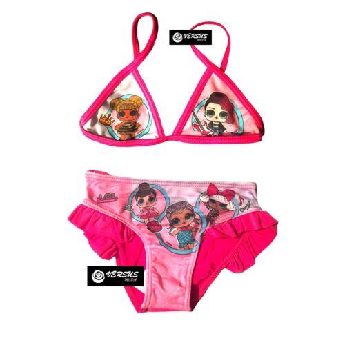 Lol Surprise Costume Mare Bikini Bambina Top Triangolo Swimsuit LOL9002 V-F