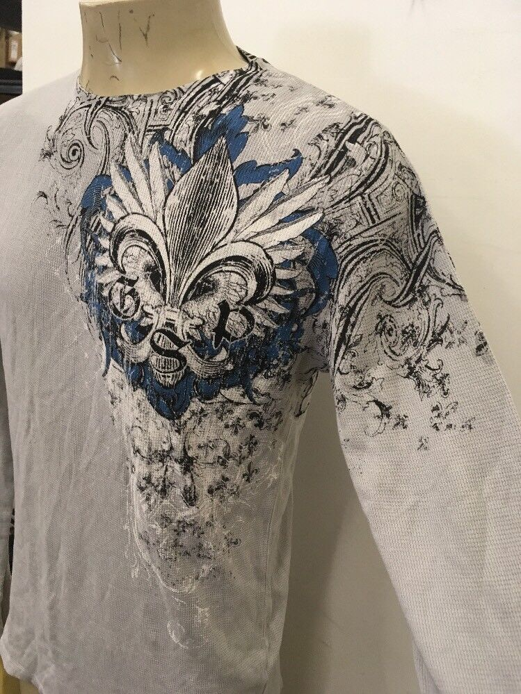 Archaic by Affliction Men's Cotton L s T Thermal light size 2XL live fast cross