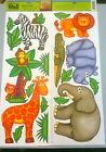 Jumbo Jungle Zoo Safari Animal Wall Stickers Decals Decor Zebra Lion Giraffe