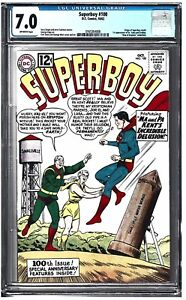 Details about SUPERBOY #100 CGC 7.0 (10/62) DC COMICS origin retold \