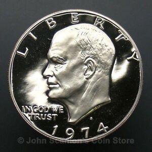Beautiful 1974-S Proof Clad Eisenhower Ike Dollar Flashy Gem   DUTCH