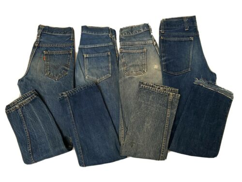 Vtg 50s 60s Youth Denim Jean Lot Big E Levis Circl