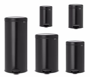 brabantia newicon treteimer m lleimer 3 30 liter in schwarz matt nachhaltig ebay. Black Bedroom Furniture Sets. Home Design Ideas