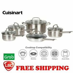 cuisinart-stainless-steel-nonstick-10PC-cookware-NOT-tefal-kitchenaid