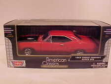 1969 Dodge Coronet Super Bee Coupe Die-cast Car 1:24 Motormax 8 inch RED