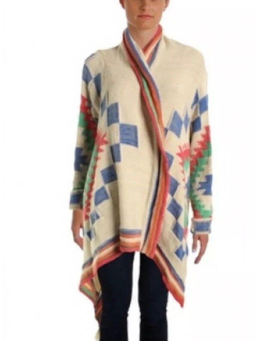 Lauren Ralph Lauren Long Cardigan Pull Manteau Größe S M Small Medium