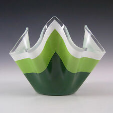 Chance Brothers Green Glass 'Duet' Handkerchief Vase #2