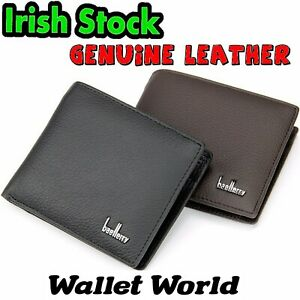 Genuine-Leather-Quality-Wallet-Men-Men-039-s-Notes-Perfect-Gift-Black-Brown-Coin