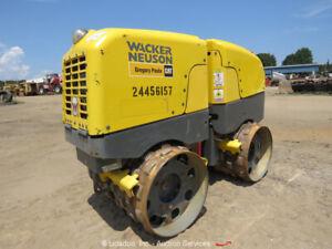 "2018 Wacker Neuson RTSC3 32"" Vibratory Trench Roller Compactor Remote bidadoo"