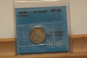 1903H-Ten-Cents-ICCS-EF-40-SCARCE-King-Edward-VII-Canada-Dime