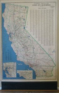 Details about Vtg California Wall Map 62