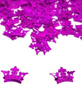 Princess-CROWN-Birthday-CONFETTI-SPRINKLES-pink-TABLE-DECORATIONS-Girls-Party
