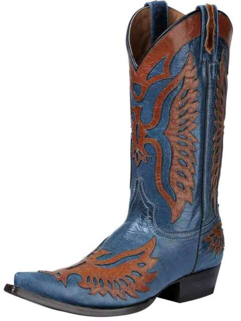 Size 10.5 High Quality New Botas Aguila Real Cowboy Boots Genuine Leather
