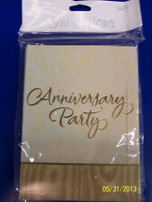 Gold Splendor Anniversary Party 50th Wedding Shower Invitations w/Envelopes *