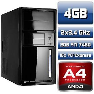 Aufruest-PC-AMD-A4-5300-2x3-4GHz-4GB-DDR3-ATI-Radeon-7480-2GB-AMD-FM2-Mainboard