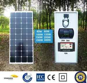 40W-80W-100W-120W-150W-200W-250W-12V-MONO-SOLAR-PANEL-SOLAR-CHARGE-REGULATOR