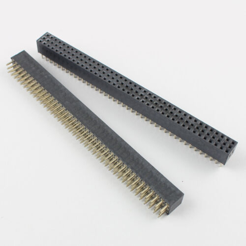 2Pcs 2mm 2.0mm Pitch 3x40 Pin 120 Pin Female Three Row Straight Pin Header Strip